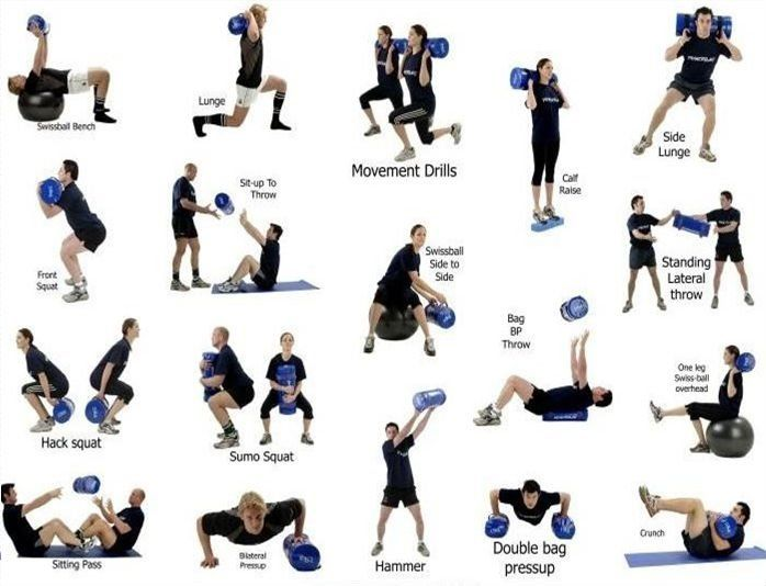 Sand Bag exercises